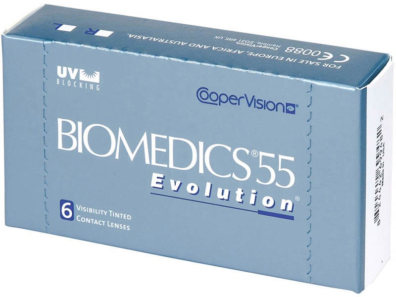 Biomedics 55 Evolution, 6 шт.