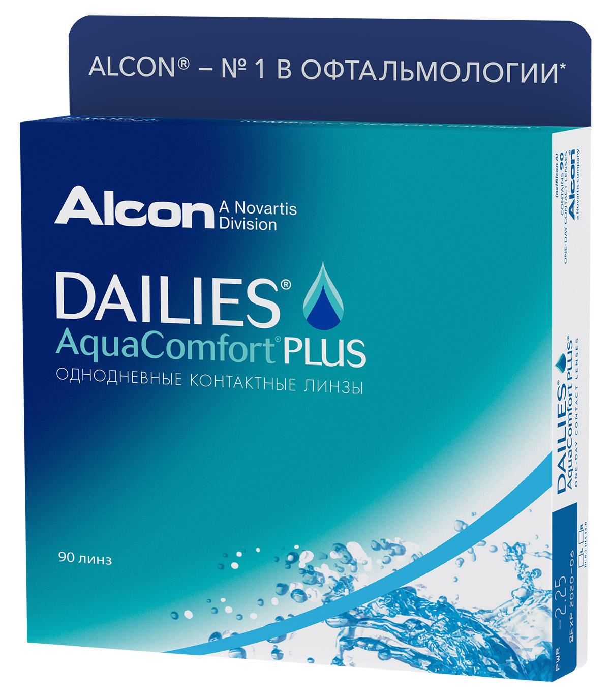 Dailies Aqua Comfort Plus, 90шт.